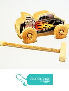 Wooden Hot Rod Whistle Racer with Launcher from Wooden Toys On A Stick http://www.amazon.com/dp/B01F5VVFQ6/ref=hnd_sw_r_pi_dp_Fidtxb123FJMF #handmadeatamazon