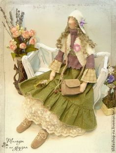 Кукла тильда в стиле бохо