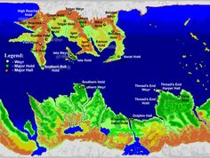 Map of Pern - home of Anne McCaffrey's Dragonrider novels