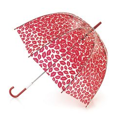 Birdcage Red Lips Umbrella | Umbrellas | Designer Accessories | Lulu Guinness