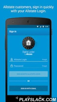 Allstate Digital Locker®  Android App - playslack.com ,  Shoot. Submit. Save.The Allstate Digital Locker® home inventory application keeps an inventory of all of your personal property where nothing can happen to it—perfectly organized and accessible to you at a moment's notice, in case of an emergency. We know you work hard for what you have and we want to help you protect it…for free.Digital Locker has been completely redesigned from top to bottom to better meet your home inventory needs…