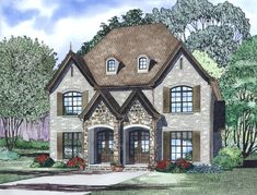 Discover the Mockingbird Hill Duplex Home that has 2 bedrooms, 2 full baths and 1 half bath from House Plans and More. See amenities for Plan Duplex Floor Plans, House Floor Plans, Duplex Design, House Design, Family House Plans, Multi Family Homes, Apartment Plans, Old Houses, Future House