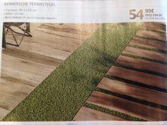 combinatie hout en kunstgras