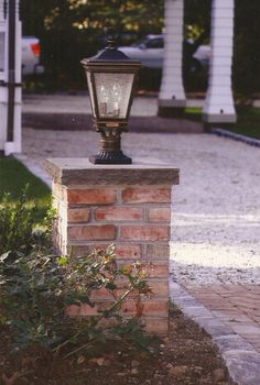 Diy dry stack driveway entry column google search outdoor living how to build brick columns solutioingenieria Images
