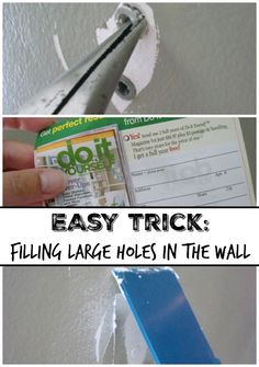 Easy fix for large holes in wall