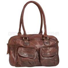 Damen Handtasche Leder braun Shopper Schultertasche EMILY Billy the Kid