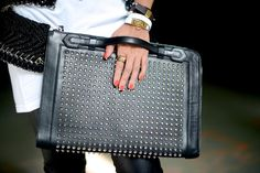 Large studded clutches.