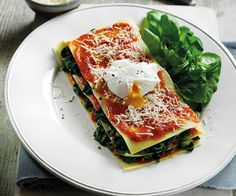 Open Lasagne With Spinach & Poached Egg - Discover Spinach