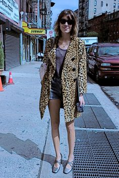 leopard (cheetah?) coats must be what's hot in the streets right now..
