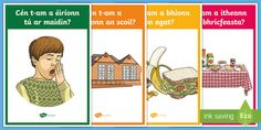 This resource covers the main vocabulary for asking questions in relation to time, with a different keyword or phrase on each poster and one of our own hand drawn images to illustrate it. Great for display, as discussion prompts and reference.