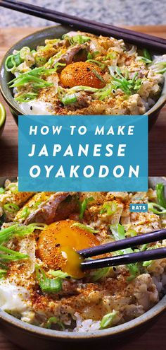 Oyakodon (Japanese Chicken and Egg Rice Bowl) RecipeYou can find Japanese food and more on our website.Oyakodon (Japanese Chicken and Egg Rice Bowl) Recipe Easy Japanese Recipes, Asian Recipes, Healthy Recipes, Japanese Food Healthy, Japanese Dinner, Japanese Egg, Japanese Meals, Japanese Chicken, Good Food