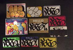 GIZ RIS MTA #eggshells #bluetop #handmade #228 #stickers #graffiti #nyc #throwie #giz