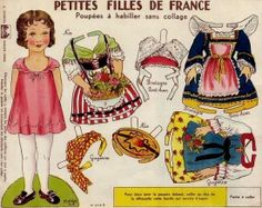 1942`s French Dress Up Paper Doll - by Agence Eureka           ==       A really nice and rare vintage model (1942), of a French Dress Up Paper Doll, preserved and shared by Agence Eureka website.