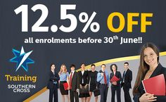 Enrol Now! 12.5% DISCOUNT on our nationally accredited Courses. Both online and face-to-face course available. Training at NSW, Sydney, Melbourne, ACT, Brisbane, Adelaide and Perth. #RTOTraining