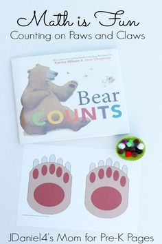 Bear Counts: Counting on Paws A hands-on activity that makes learning how to count FUN for young children in preschool and kindergarten!