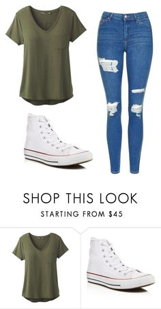 """Untitled #514"" by cuteskyiscute on Polyvore featuring prAna, Converse and Topshop"
