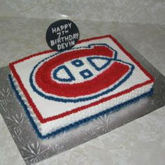 Discover recipes, home ideas, style inspiration and other ideas to try. Hockey Birthday, Hockey Party, 60th Birthday Party, Cupcake Cookies, Cupcakes, Hockey Cakes, Red Wings Hockey, Daddy, Montreal Canadiens