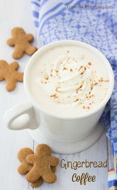 Your steaming cup of coffee is made extra special with a hint of warm gingerbread spices. Relax and enjoy a quiet moment to yourself with a mug of this Gingerbread Coffee. Perfect for the Christmas and Holiday season! Fall Recipes, Holiday Recipes, Smoothies, Café Chocolate, Steaming Cup, Chocolate Caliente, Coffee Cozy, Coffee Shops, Coffee Maker