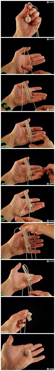 Monkey Fist Knot instructions