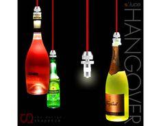 s`luce HANGOVER / 3W LED-Hängeleuchte für Flaschen / silber/rot günstig kaufen - Allyouneed.com