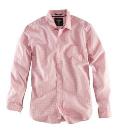 button-down shirt in red-pink