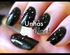 Novidades!!!! Unhas decoradas, 3D Black
