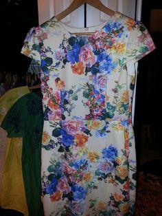 Betsy Johnson floral print dress...