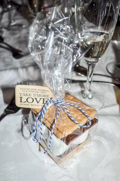 take s'more love home - edible wedding favor