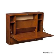 SEI Wall Mount Laptop Desk, Brown Mahogany