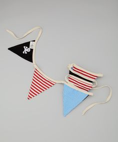 Powell Craft Red, Black & Blue Pirate Bunting