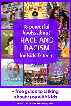 18 Powerful Children's Books about Race and Racism – The Barefoot Mommy It's never too early to talk to kids about race. Use these children's books about race and racism to spark powerful conversations with kids and teens. Best Children Books, Books For Teens, Childrens Books, Good Books, Books To Read, New Children's Books, Ya Books, Chapter Books, Books