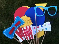 CARNIVAL BIG TOP photo booth props by flutterbugfrenzy on Etsy, $26.95