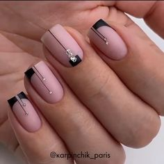Chic Nails, Stylish Nails, Nail Art Designs Videos, Nail Designs, Gel Nails, Nail Polish, Nail Manicure, Nagellack Design, Minimalist Nails
