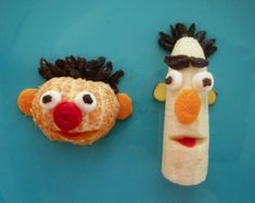 Bert & Ernie made from fruit
