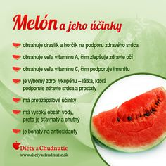 Melón a jeho účinky na chudnutie a zdravie človeka Raw Food Recipes, Diet Recipes, Healthy Recipes, Healthy Life, Healthy Living, Wellness, Better Life, Food Inspiration, Natural Health