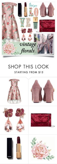 """""""F L O R A L S"""" by color-dli on Polyvore featuring мода, Chi Chi, Dolce&Gabbana, Anyallerie, Halogen и vintage"""