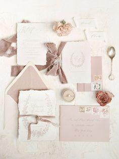 Wedding Invitation Design, Wedding Stationary, Blush Wedding Invitations, Invitation Wording, Wedding Paper, Wedding Cards, Wedding Bells, Pastel Pink Weddings, Wedding Stationery Inspiration