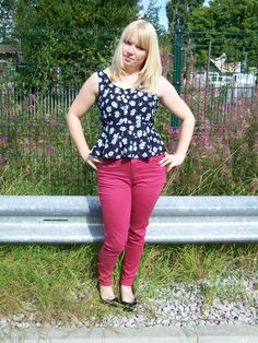 Free pattern for peplum top - size 12(ish) only - can follow link to blog for pattern too