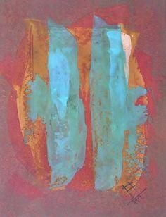 your way / oil,acrylic,cardboard,pedrage - Petr Chmel