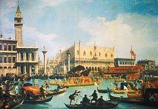 Die Rückkehr des Bucentaurus zum Dogen-Palast #venedig #italien #tapeterie #italy #sight #inneneinrichtung #innenarchitektur #design #walldesign #wallpaper #wall #living #home #gestaltung #art #tapeten #kunst #tapetenshop