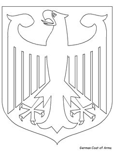 Print Coloring Page And Book Coat Of Arms Germany Pages For Kids All
