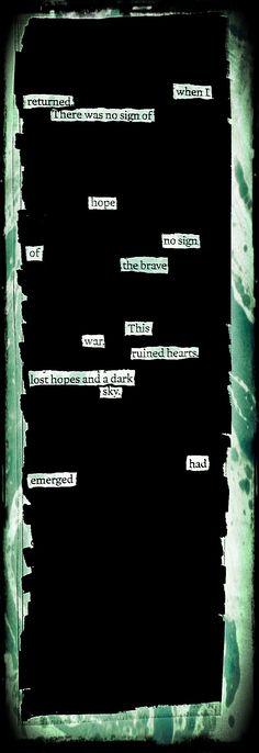 """""""Ruined Hearts"""" by Kevin Harrell  www.blackoutpoetry.net"""