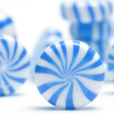 Pinwheel swirl white and blue hard candy peppermints ~ Sarah's Country Kitchen ~
