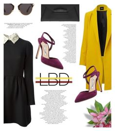 """""""Little Black Dress"""" by antemore-765 ❤ liked on Polyvore featuring Valentino, Manolo Blahnik, Christian Dior and Givenchy"""