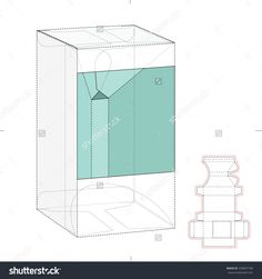 Retail Box With Cut Out Window And Die Line Template Stock Vector Illustration 330047186 : Shutterstock