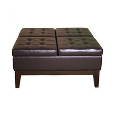Large-Storage-Ottoman-Coffee-Table-Sofa-Leather-Seat-Brown-Bench-Stool-Footrest