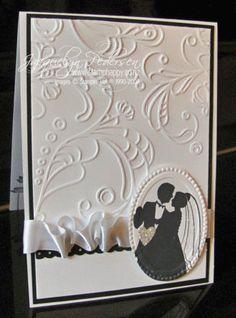 Lovely elegant wedding card