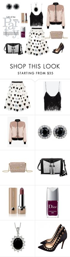 """Рarty time (образ на вечеринку)"" by tanyaryndina on Polyvore featuring мода, Alice + Olivia, Zara, Olympia Le-Tan, Carianne Moore, Marc Jacobs и Gianvito Rossi"
