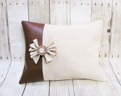 woven leather pillows - Google Search