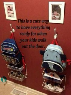 Kids getting ready for school